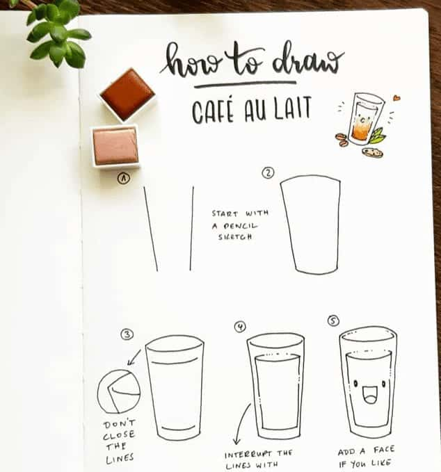 easy food doodles