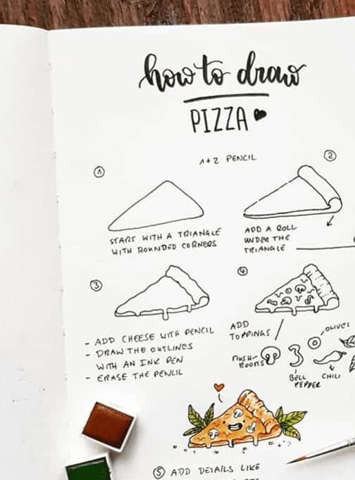 easy food doodles with pizza