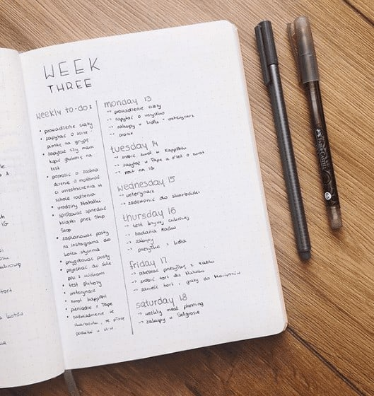 Weekly To-Do List and Weekly Planner on same page