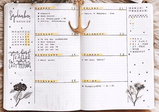 Weekly Spread Idea For Getting It Done!