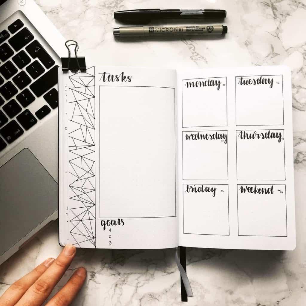 simple weekly spread idea