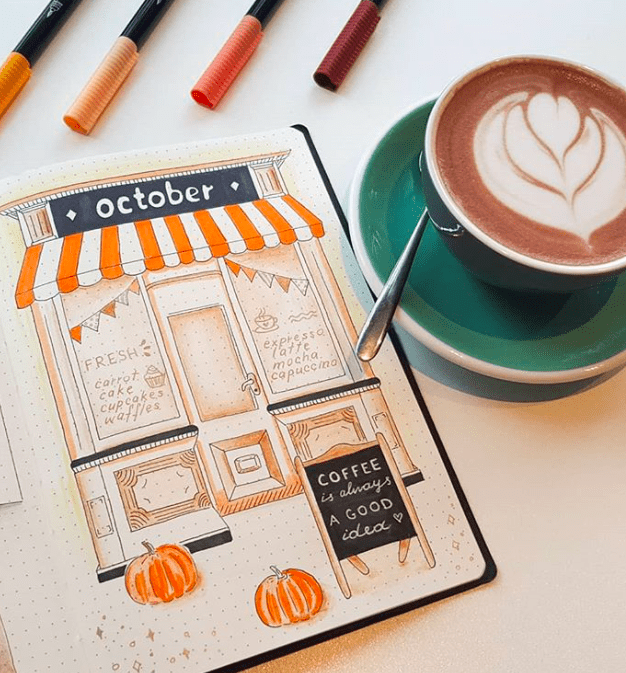 October monthly cover page