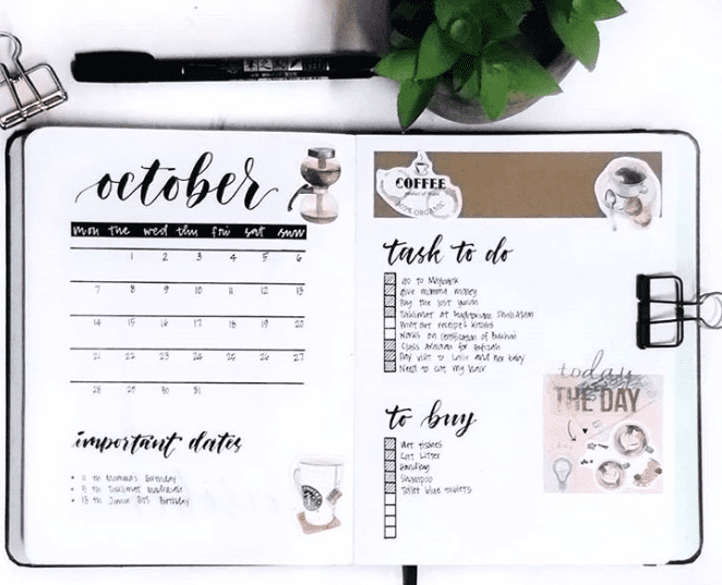 October Coffee Craze spread ideas