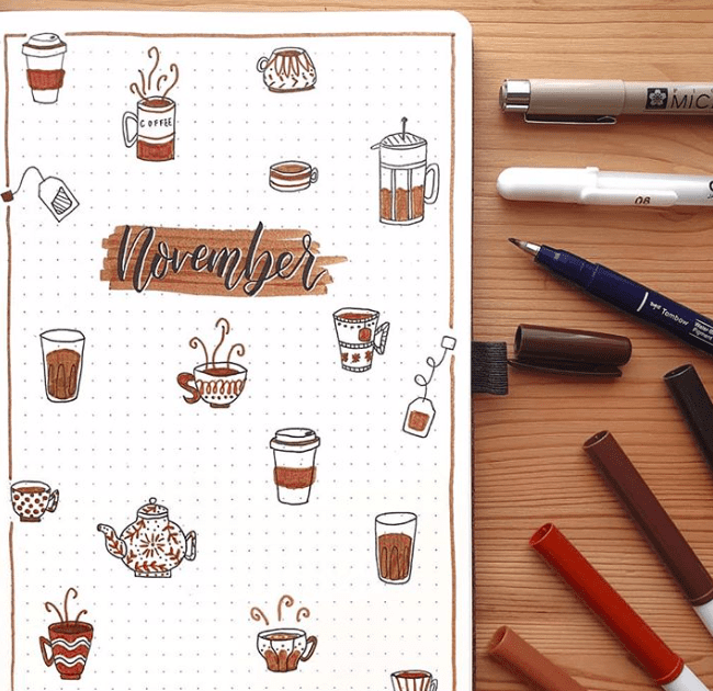 November Coffee Cover Page