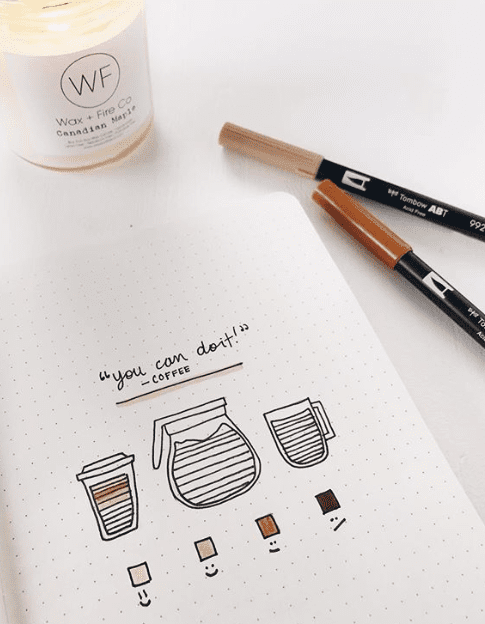 coffee bullet journal spread