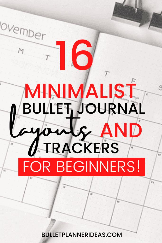 16 Minimalist Bullet Journal Layout Ideas