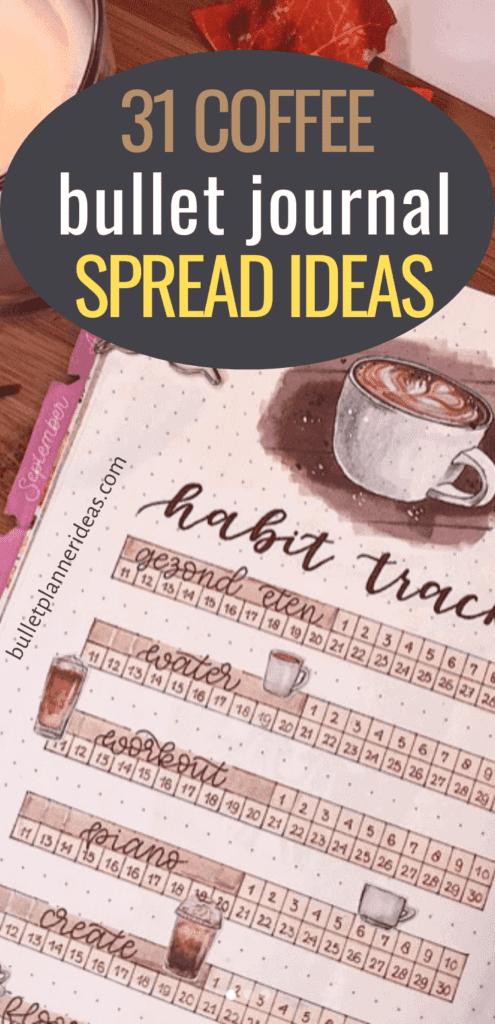 31 Coffee Themed Bullet Journal Spread Ideas
