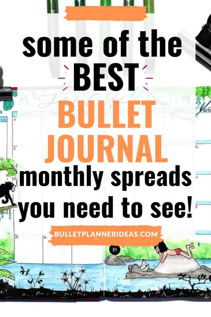 some of the BEST monthly bullet journal spreads you need to see
