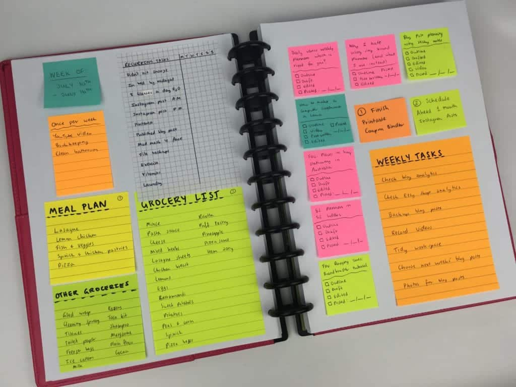 Color Code with Sticky Notes