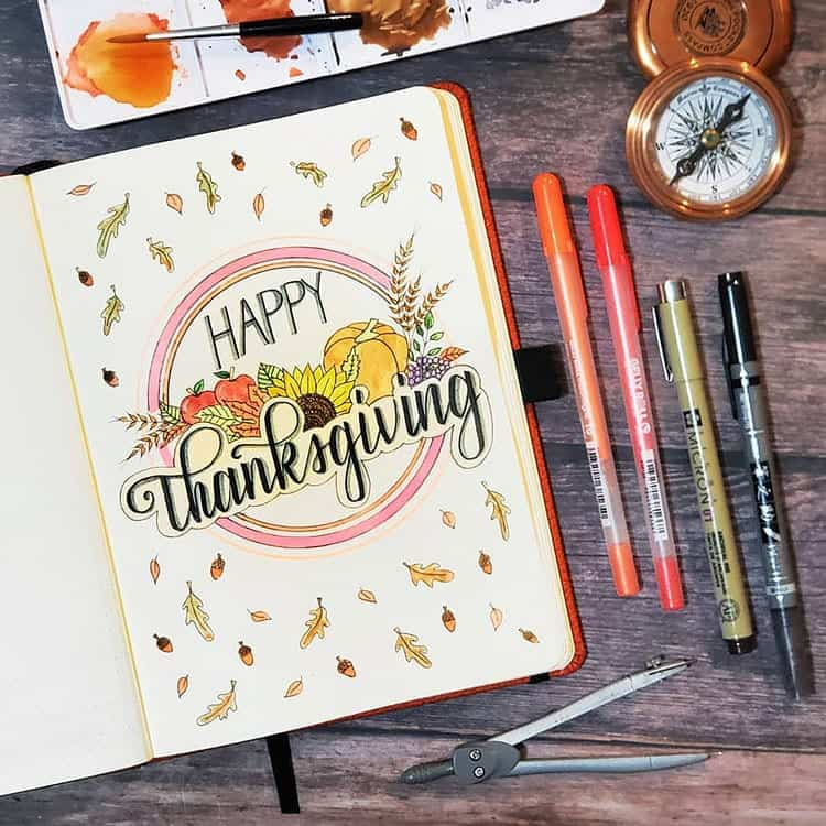 Happy Thanksgiving Bujo