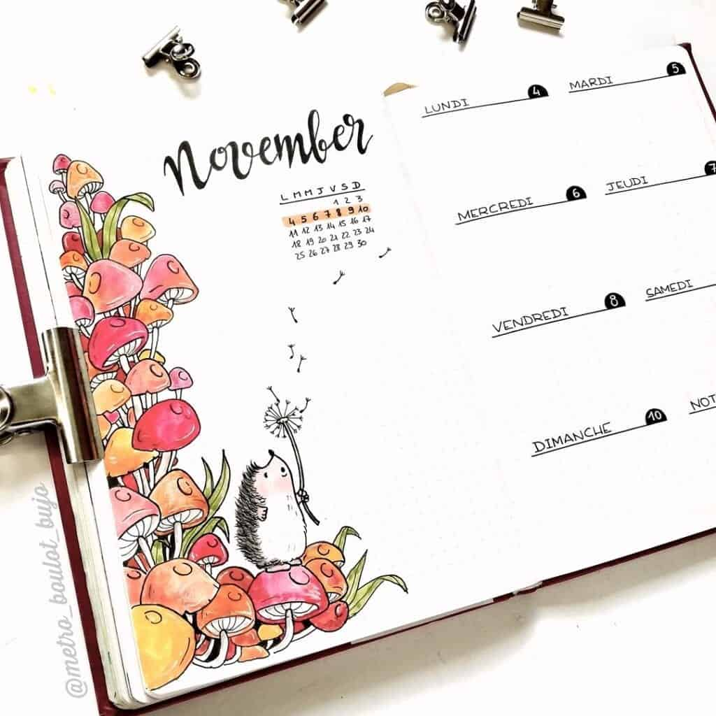 November Bullet Journal Ideas