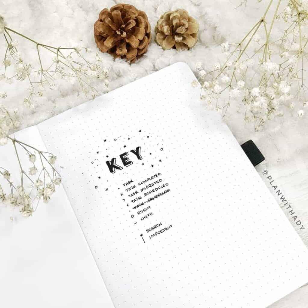 Bujo Key Page