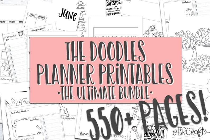 The Doodles Planner Printables Ultimate Bundle