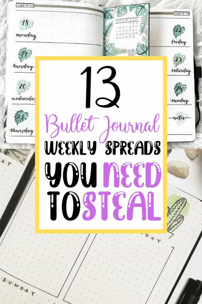 13 Bullet Journal Weekly Spreads you NEED to Steal