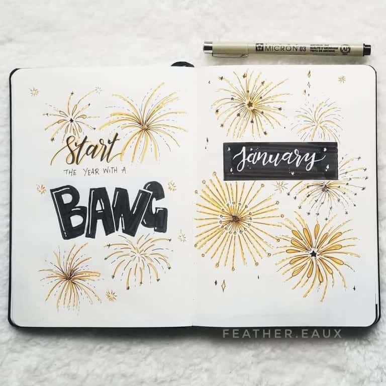 January Bujo Cover Page 2021