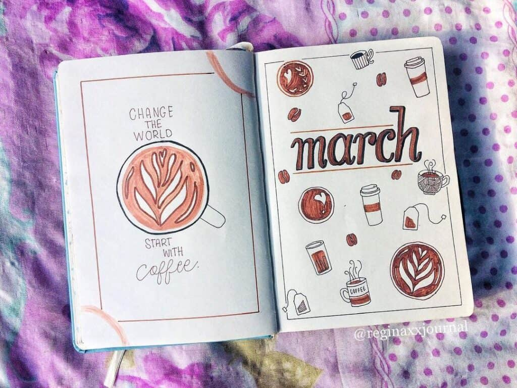 Bullet Journal March Cover