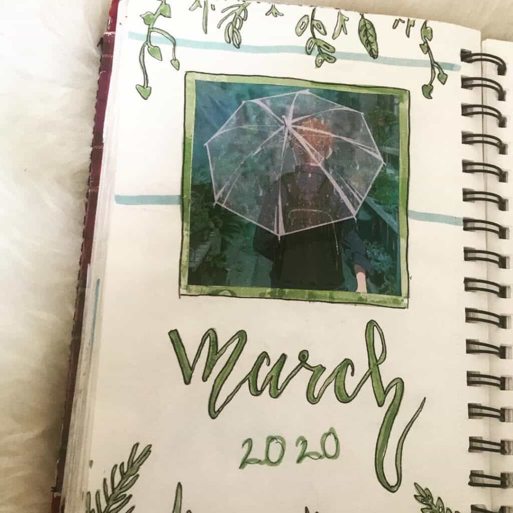 March Theme Bullet Journal