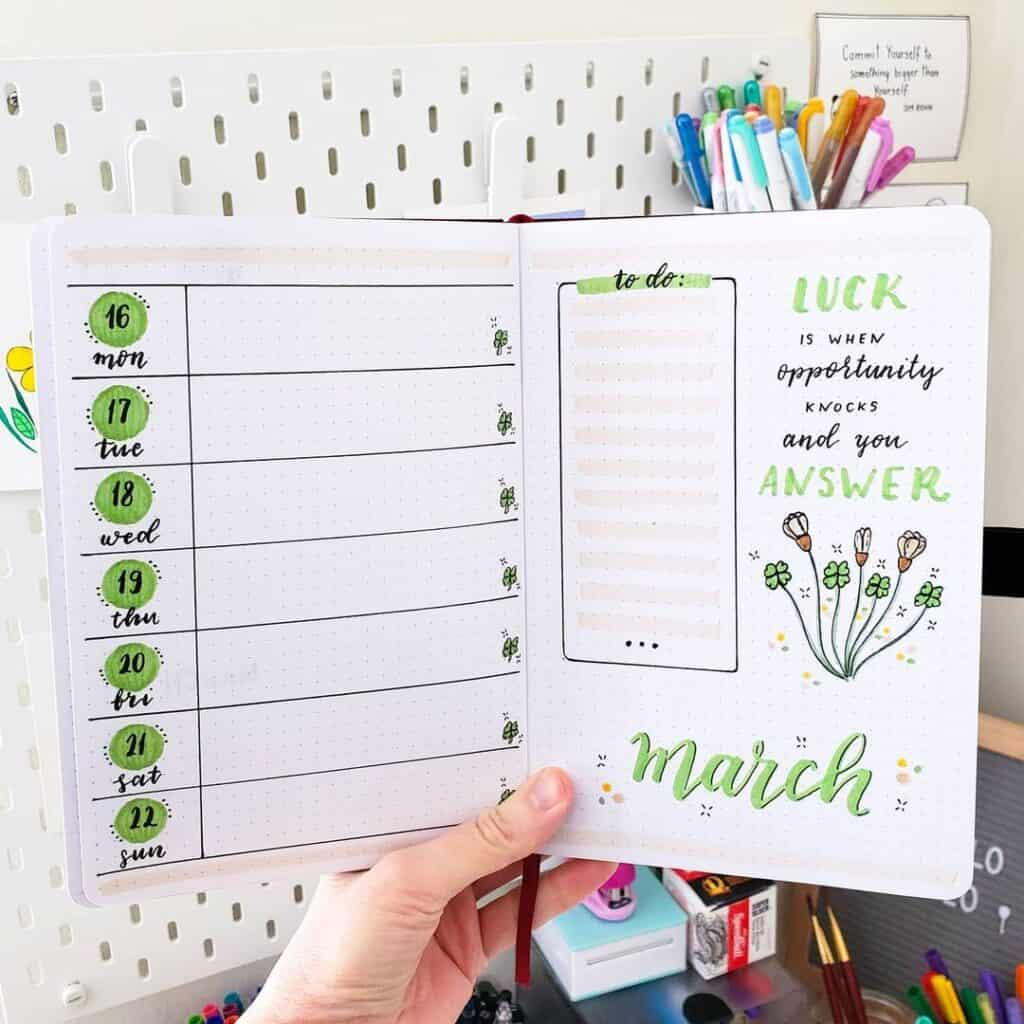 March Bullet Journal Theme